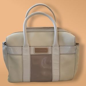 Marc by Marc Jacobs Ivory and Tan Leather Handbag